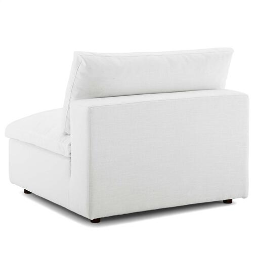Commix Down Filled Overstuffed 6 Piece Sectional Sofa Set in White