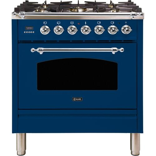30 Inch Blue Dual Fuel Natural Gas Freestanding Range