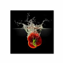 See Details - Red Pepper In Water Fine Wall Art