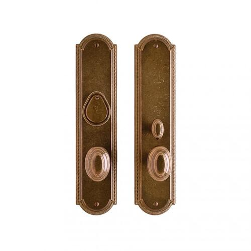 "Rocky Mountain Hardware - Ellis Entry Set - 3"" x 13"" White Bronze Brushed"