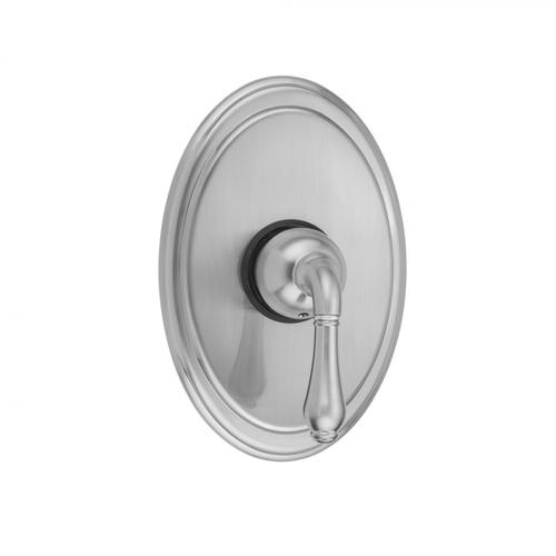 Black Nickel - Oval Plate With Regency Lever Trim For Pressure Balance Valve (J-PBV)