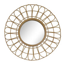 "See Details - 36"" Rattan Mirror, Natural Wb"