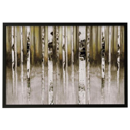 Style Craft - Fun Creek  Made in USA  Artist Print  Faux Wood Frame Under Glass  Attached Hanging Hardware