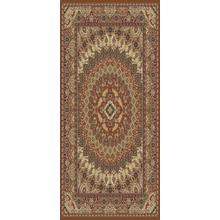 "Persian Design 1.5 Million Point Heatset Tabriz 3917 Area Rug by Rug Factory Plus - 7'6"" x 10'3"" / Rose"