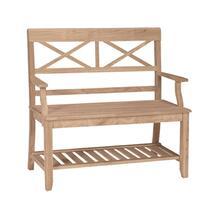 See Details - Unfinished Double X Back Bench