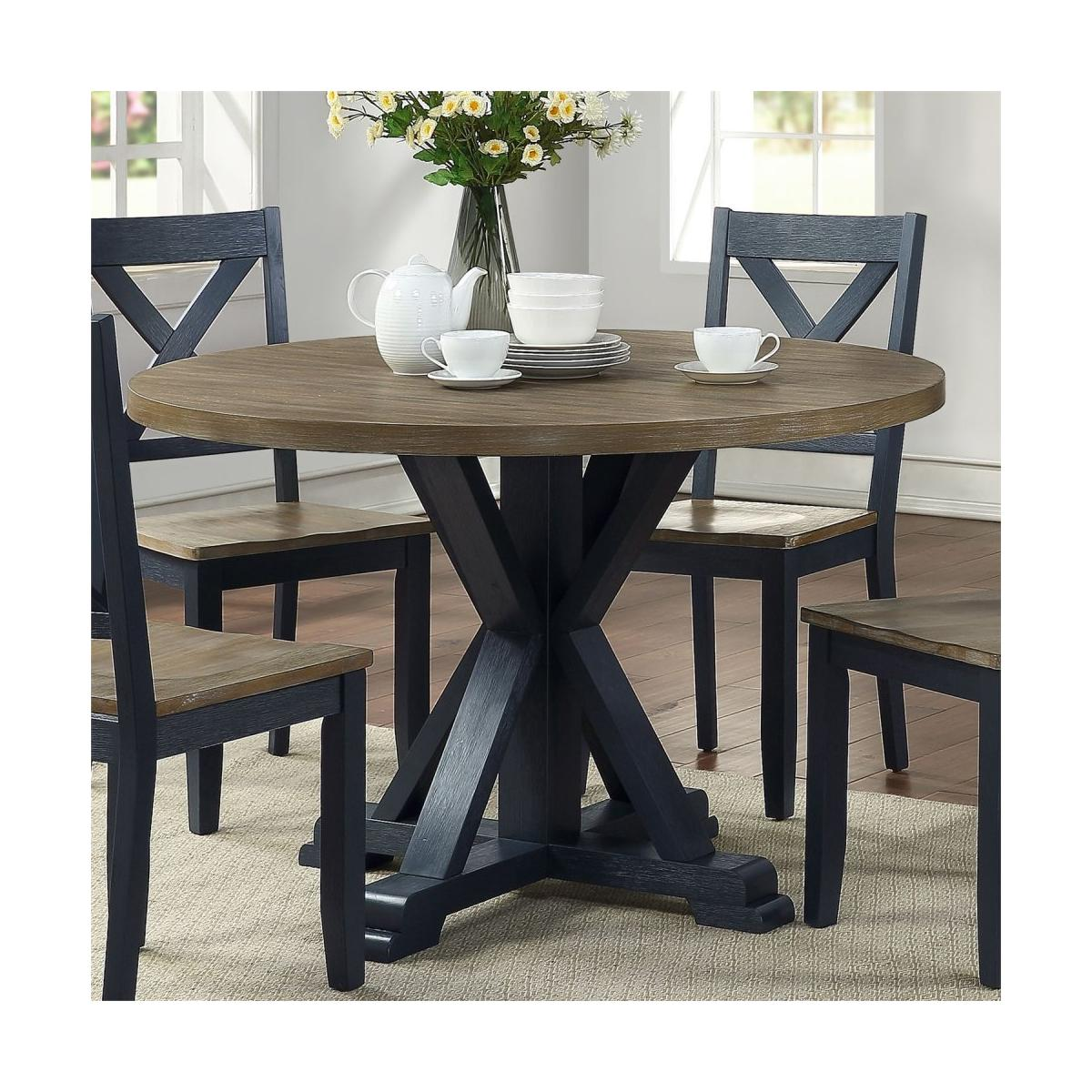 Single Pedestal Table- Navy