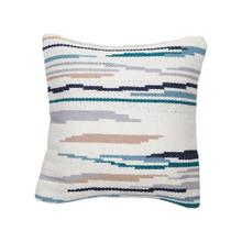 18x18 Hand Woven Hayes Pillow Blue