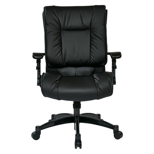 Black Bonded Leather Conference Chair
