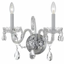 See Details - Traditional Crystal 2 Light Clear Crystal Chrome Sconce