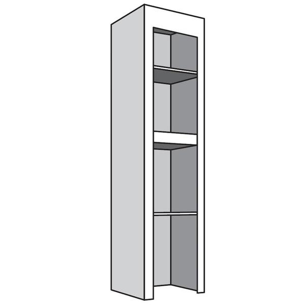"""See Details - Narrow Top Unit, 21""""w with 2 adjustable shelves"""