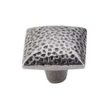 View Product - Square Iron Knob Dimpled 1 3/8 Inch Cast Iron