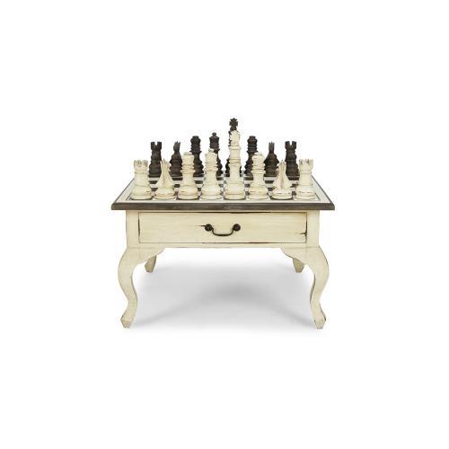 Gentleman's Chess Table 2 Drawer w/ Chess Set