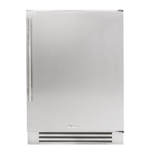 24 Inch Solid Stainless Door Right Hinge Undercounter Freezer