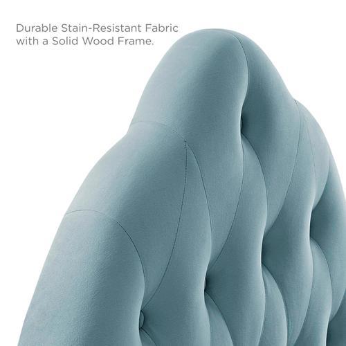 Modway - Sovereign King Diamond Tufted Performance Velvet Headboard in Light Blue