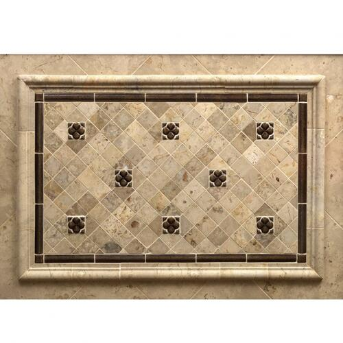 "Dots 2"" - Backsplash Bronze Dark Lustre"
