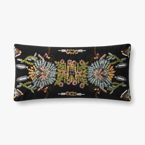 P0826 Black / Multi Pillow