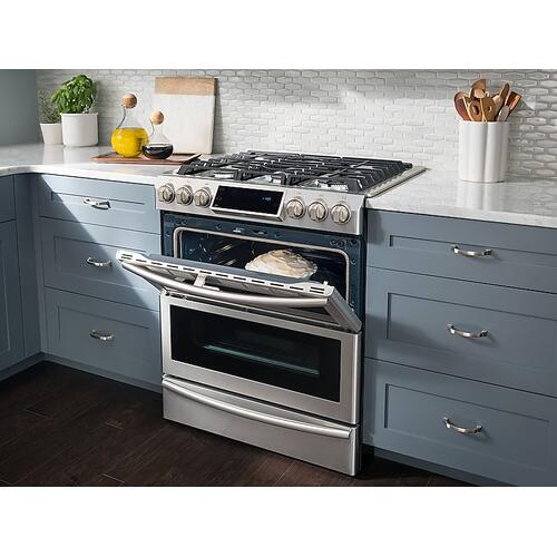 5.8 cu. ft. Slide-in Dual Fuel Range with Flex Duo™ & Dual Door in Stainless Steel