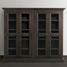 Compass Western Brown Emporium Double Display Cabinet