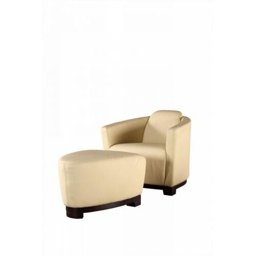 Divani Casa Hotel Off-White Leather Lounge Chair