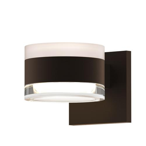 Sonneman - A Way of Light - REALS® Up/Down LED Sconce [Color/Finish=Textured Bronze, Lens Type=White Cylinder Lens and Clear Cylinder Lens]