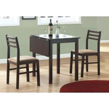 DINING SET - 3PCS SET / ESPRESSO SOLID-TOP DROP LEAF