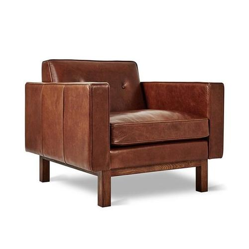 Embassy Chair Saddle Brown Leather