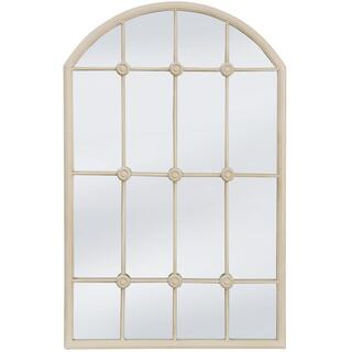 TAYLOR TAUPE MIRROR  20in w. X 32in ht. X 1in d.  Powder Coated Window Pane Wall Mirror