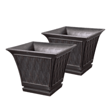 Hyacinth - 2 pc Planter Set Square