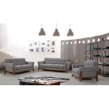 Nova Domus Soria Modern Grey Fabric Sofa Set