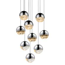 Grapes® 9-Light Round Large LED Pendant