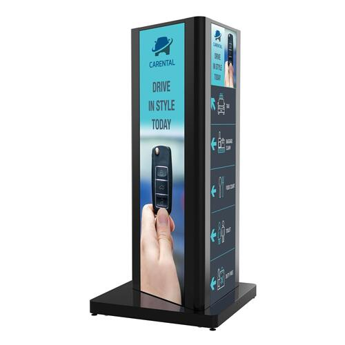 Ultra Stretch Portrait Kiosks - Black3 / 86bh5c