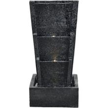 See Details - Hanover 27-In. 3-Tier Waterwall Indoor or Outdoor Fountain with LED Lights for Patio, Deck, Porch, HAN027FNTN-01