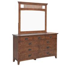 See Details - Mission Bay 9 Drawer Dresser & Mirror