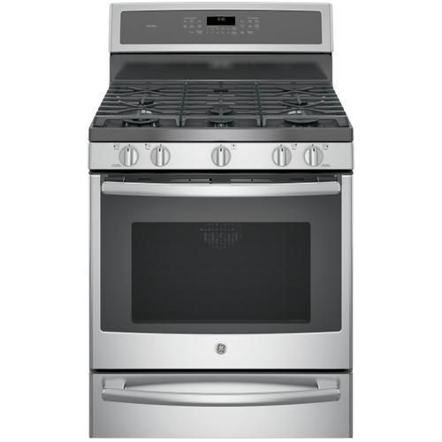 """GE Profile™ Series 30"""" Dual-Fuel Free-Standing Convection Range with Warming Drawer- New-Just Out Of The Box"""