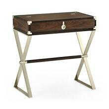 Campaign Style Dark Santos Rosewood Flip-Top Desk