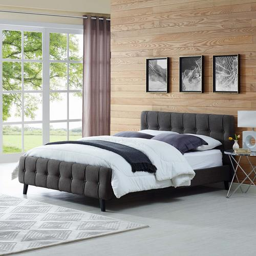 Modway - Ophelia Queen Fabric Bed in Gray