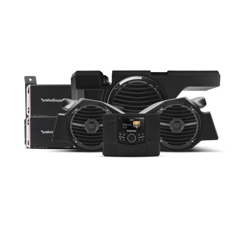 Rockford Fosgate - 600 Watt stereo, front speaker and subwoofer kit for 2014-2018 Polaris® RZR® models