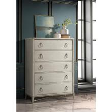 See Details - Maisie - Five Drawer Chest - Champagne Finish