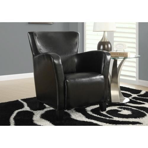 Gallery - ACCENT CHAIR - BLACK LEATHER-LOOK FABRIC