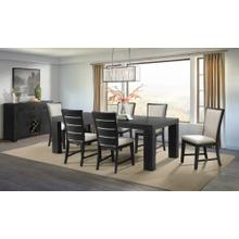 See Details - Grady Black Dining Set - Table and 6 Chairs