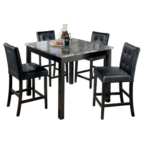 Maysville - Black 5 Piece Counter Height Dining Room Set
