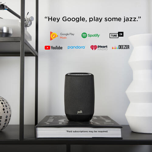 Smart Speaker with the Google Assistant Built-In in Midnight Black