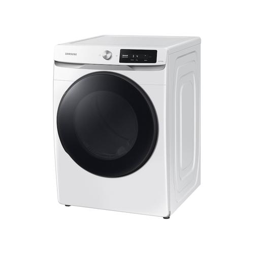 Samsung - 7.5 cu. ft. Smart Dial Electric Dryer with Super Speed Dry in White