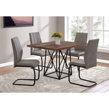 """See Details - DINING CHAIR - 2PCS / 39""""H / TAUPE FABRIC / BLACK METAL"""