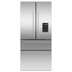"""Fisher & PaykelFreestanding French Door Refrigerator Freezer, 32"""", 16.9 cu ft, Ice & Water"""