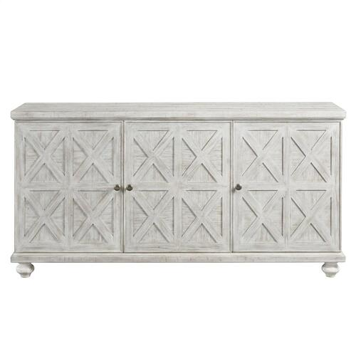 Madison - 62-inch TV Console - Rustic White Finish