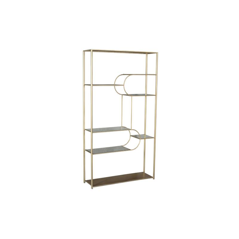 47X14X86 WOOD & METAL ETAGERE, 1PK/43.78'
