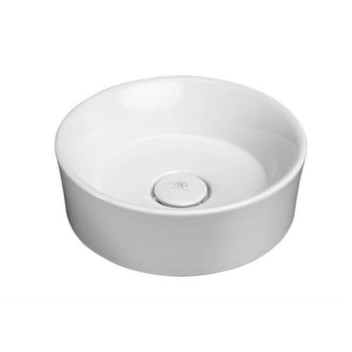 Dxv - Pop Round Vessel Bathroom Sink - Canvas White
