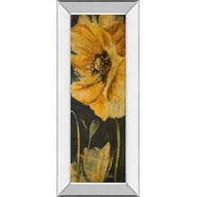 """Poppy Garden Panel Il"" By Patricia Pinto Mirror Framed Print Wall Art"