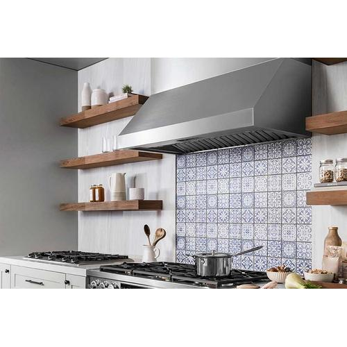 "48"" Pro Wall Hood, 12"" High, Silver Stainless Steel"